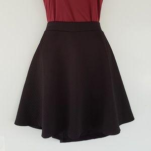 H&M Skirts - H&M Black Structured Textured Skirt - Medium